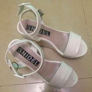 Snidel 日貨 甜美楔型 高跟 涼鞋 #五百元好女鞋
