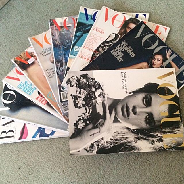 10 Vogue Magazines Excellent Condition!