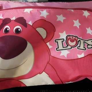 正版熊抱哥雙層收納袋