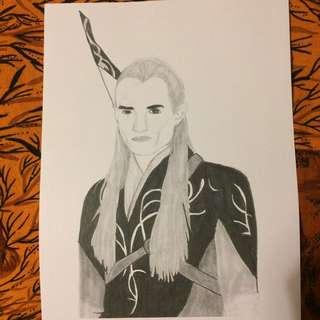 Lord Of The Rings Legolas Drawing