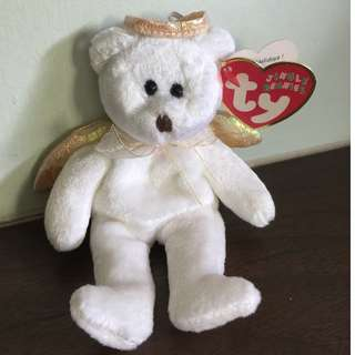 TY Beanie Bear: Angel With Wings