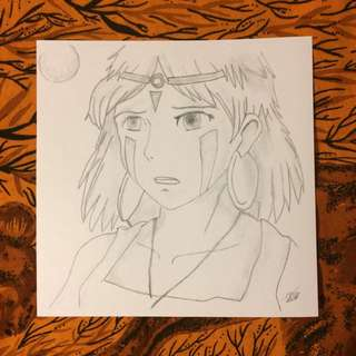 Princess Mononoke Drawing