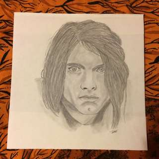 Kurt Cobain From Nirvana Drawing