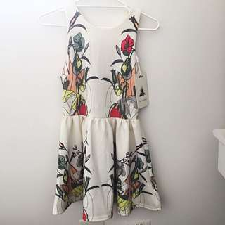 BNWT White And Floral Dress