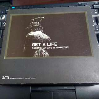 3CD   陳奕迅--EASON CHAN--GET A LIFE--LIVE IN HONG KONG--演唱會