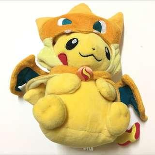 Official Tokyo Pokemon Center Pikachu Charizard Hoodie Plush