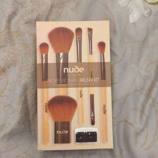 New In Box Nude By Nature Professional Brush Kit