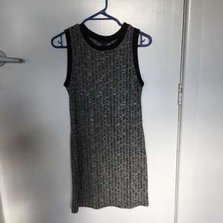 Charcoal Grey Forever 21 Dress
