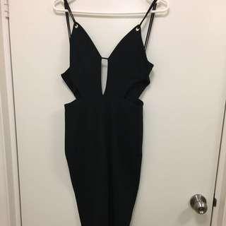 Bodycon Black Midi Dress