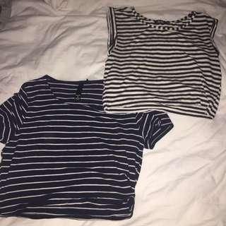 2 Striped Tshirts