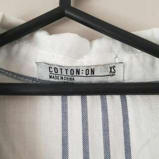Long Sleeveless Shirt Cotton On Size XS