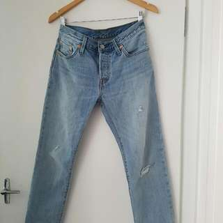 Levi's 501 CT Customised Tapered Boyfriend Jeans Size 26/8 Lakeshore Road