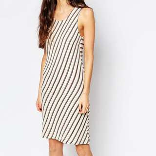 ASOS Contrast Striped Knit Dress
