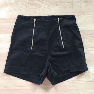 Folded & Hung High Waist Shorts