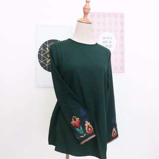 embroidery on sleeve top