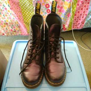 Metallic Purple Doc Martens Size US 7/ EU 38