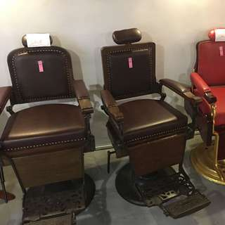 60s barber chairs