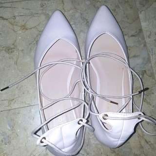 Zalora lace up ballerinas in pink