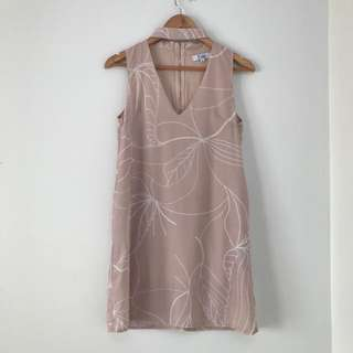 Nude / Dusty Rose Dress - Size 6
