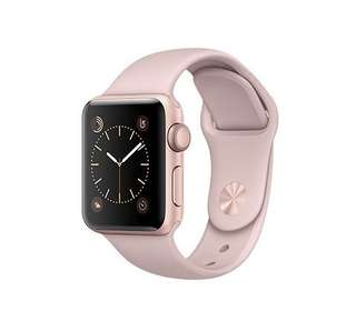 Apple Watch Rose Gold Aluminum Case with Pink Sand Sport Band