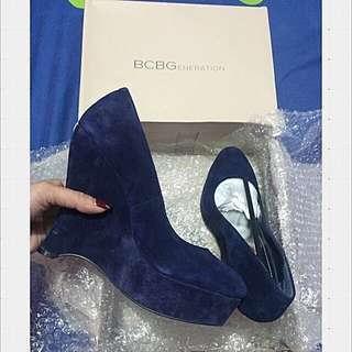BCBG NAVY WEDGES