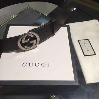 Gucci Men Interlocking GG Belt