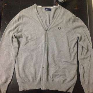 PROCE DROP - Fred Perry Cardigan - Grey - L