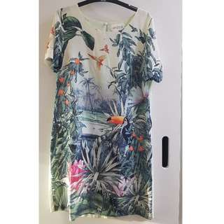H&M Tropical Semi-Sheer Dress