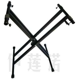 Keyboard Double X Stand with lever locking system, suitable for keyboards, guzheng etc (Limited Stock)
