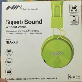 Nia Superb Sound Wireless Headphones