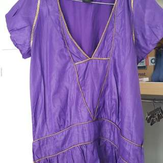 Marc Jacobs small top purple with gold trim