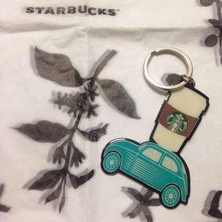 絕版🚗星巴克DT車道門市DRIVE THROUGH專屬鑰匙圈 Starbucks