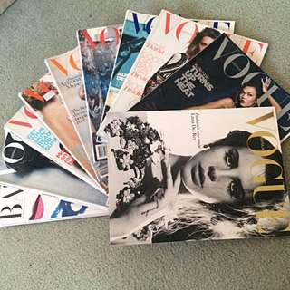 10 Vogue Magazines Excellent Condition!