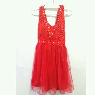 Dress Import Merah