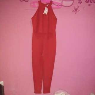 Eureka Jumsuit Merah Cabe