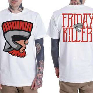 friday killer baju kaos pendek oblong unisex surfing distro