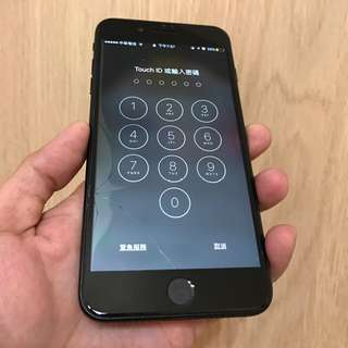 iPhone 7+ Plus 霧黑 128g(2/7玻璃破裂)