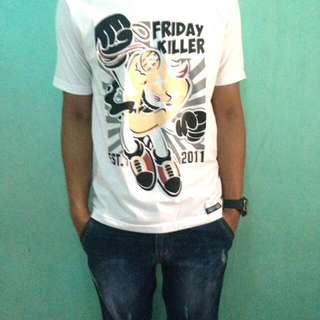 friday killer baju kaos pendek oblong unisex distro surfing