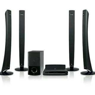 LG Wireless DVD Home Theatre System With iPod Dock, USB Direct Recorder, Sub Woofer, Remote And Instruction Manual - All Original Parts