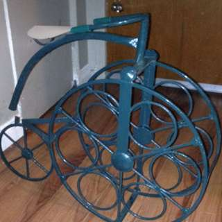 Blue Vintage Wine Rack