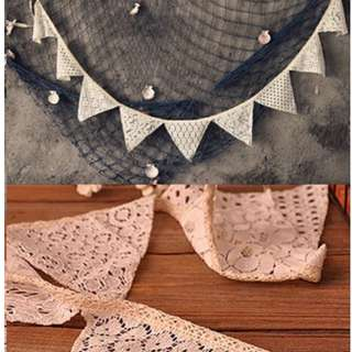 [Instocks] Lace Buntings / Lace Banner for Weddings, Parties, Candy Bars as Decor!