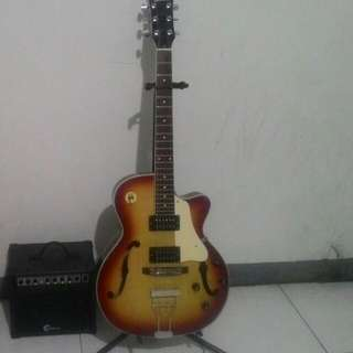CB Lumanog Hollow Body Guitar With Amp