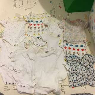 Blessing/Free Used 0-3 Months Baby Onesies