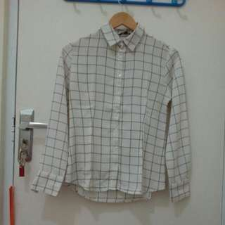White Grid Shirt - The Executive