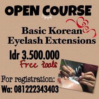 Korean Eyelash Extensions Course