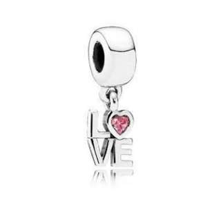 Love Word Charm For Pandora :)