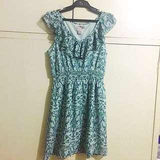 Forever21 blue printed dress