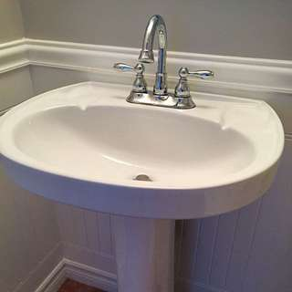 Bathroom Sink With Pedestal And Faucet