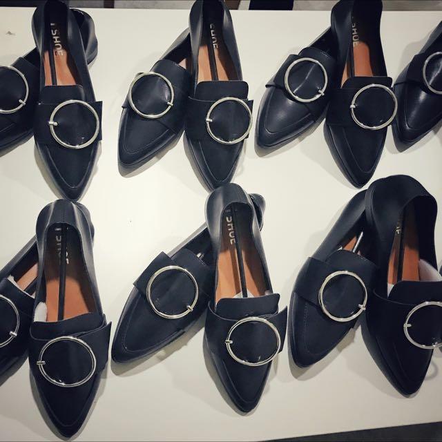 圓環平底鞋