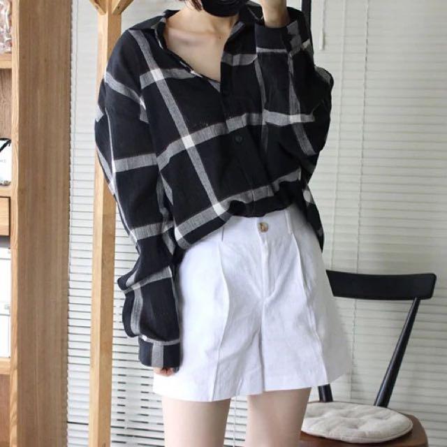 男友風慵懶 格子襯衫